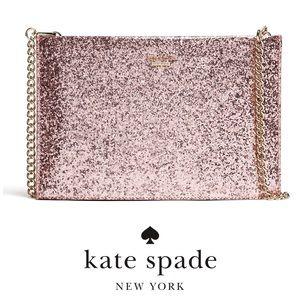 Kate Spade Rose Glitterbug Sima Crossbody Bag EUC
